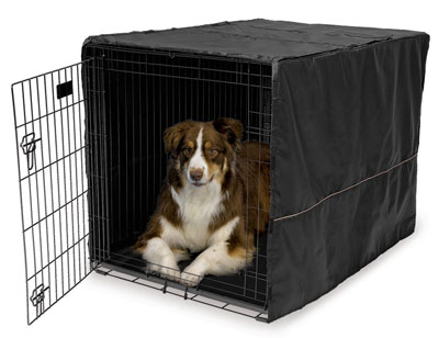 1. MidWest Black Polyester Crate Cover For Wire Crates