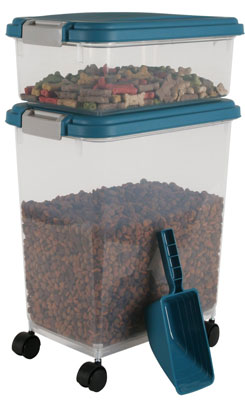 1. IRIS Airtight Pet Food Container Combo Kit in Blue Moon/Grey