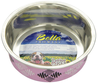 8. Loving Pets Argyle Bella Bowl for Pets