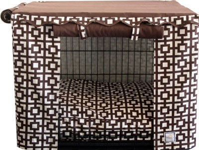 5. Latice Dog Crate Cover
