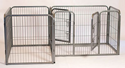 10. Iconic Pet Heavy Duty Double Divided Tube Pet Pen, Top 10 Best Outdoor Dog Pens for Sale Reviews