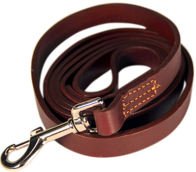 3. Logical Leather 6-Foot Dog Training Leash - Best Water Resistant Heavy Full Grain Leather Lead - Lifetime Guarantee