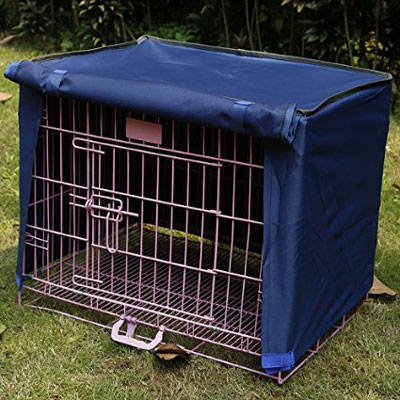10. Doglemi Waterproof Pet Crate Cover for Wire Crate Dog Kennel Cage Cover 4sizes