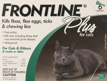 5. Merial Frontline Plus Flea and Tick Control for Cats and Kittens, 6 Doses