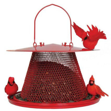 2. Red Cardinal Bird Feeder
