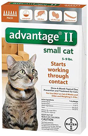 6. Bayer Advantage II Flea Control Treatment for Cats