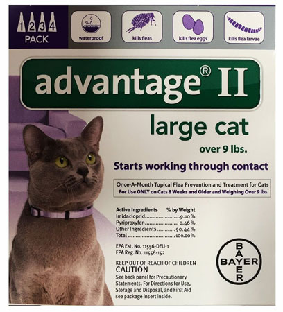 10. Bayer Advantage II Flea Control Treatment for Cats
