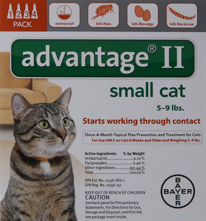 7. Bayer Advantage II Flea Control Treatment for Cats
