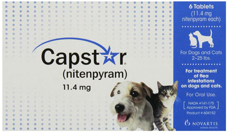 2. Novartis Capstar Flea Tablets for Dogs and Cats