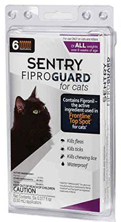 8. Sentry Fiproguard Flea and Tick Topical Drops for Cats