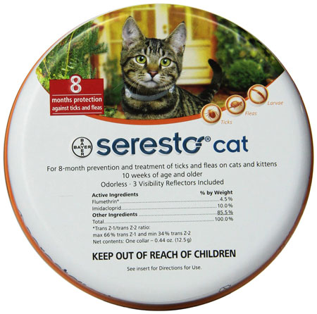 3. Bayer Seresto Flea and Tick Collar, Cat