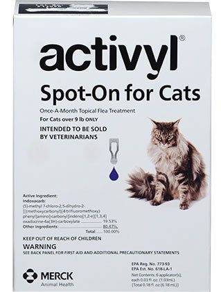 9. Activyl Cats Over 9 Lbs 6pk Cats