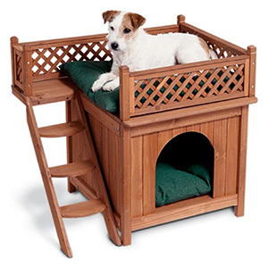 6. Merry Products Wood Pet Home