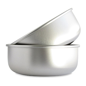 5. Basis Pet Stainless Steel Dog Bowl