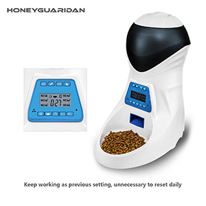 3. HoneyGuaridan A25 Automatic Pet Feeder