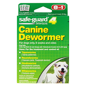 3. Excel8in1 Safe Guard Canine Dewormer