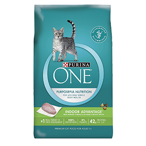 4. Purina ONE Indoor Advantage Adult Premium Cat Food