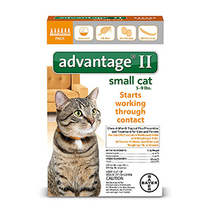 5. Advantage II for Cats 6-Month Supply