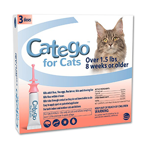 8. Catego Flea and Tick Control for Cats