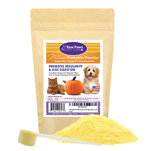 4. Raw Paws Pet Natural Pumpkin Powder Digestive Supplement for Dogs & Cats