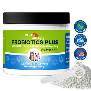 9. In-It PetsAll Natural Probiotics for Dogs and Cats