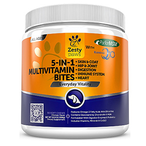 8. Zesty PawsMultivitamin Chews for Dogs