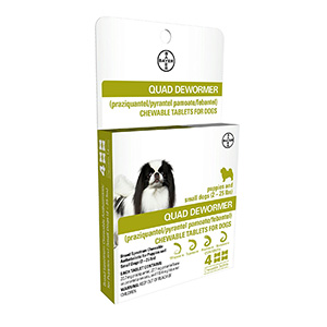 7. Bayer Quad Chewable Dewormer