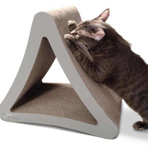 Three sided PetFusion vertical cat scratcher